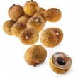 Longan - exotic fruit close up isolated on a white background - Photo