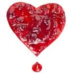 dżem żurawinowy w formie serca na białym tle — Zdjęcie stockowe #15891079