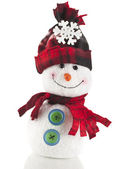 Cheerful Christmas Snowman — Stock Photo