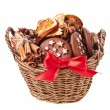 Christmas basket full cookie — Stock Photo #17185669