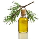 Bottle of fir tree essential oil — Stock Photo #17184849