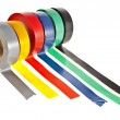 Stock Photo: colored adhesive tape roll