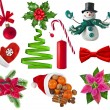 Christmas collection set of different colorful objects — Stock Photo