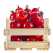 Royalty-Free Stock Photo: Fresh tomatoes in a wooden crate