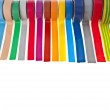 Colored adhesive tape roll — Stock Photo #17185517
