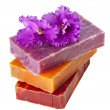 Different colorful handmade soaps — Stock Photo
