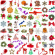 Collection Christmas decoration - Stock Photo