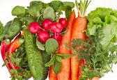Fresh vegetable on white background — Stock Photo