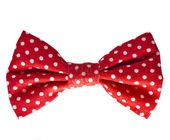 Red bow on white — Stock Photo