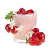 Fruit Smoothie - Fresh Berries with Yogurt — Stock Photo