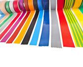 Kolorowe taśmy klejącej rolki — Zdjęcie stockowe