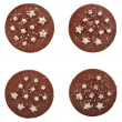 Christmas chocolate cookies isolated on a white background — Stock Photo #21188785
