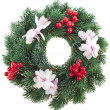 Christmas wreath isolated on white background — Stock Photo #21189079