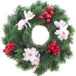 Christmas wreath isolated on white background — Stock Photo #21189079