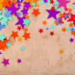 Abstract old retro paper background with colorful stars — Stock Photo