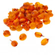 Royalty-Free Stock Photo: Dried sea buckthorn isolated on white background