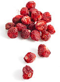 Dry strawberry close up isolated — Stock Photo