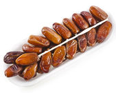 Fresh dates fruits isolated — Stock Photo
