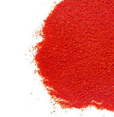 Border of ground paprika on white background — Foto Stock