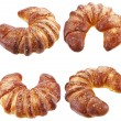 Fresh and tasty croissant crescent bun isolated on a white background — Stock Photo #21190213