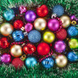 Christmas background with colorful balls - Stockfoto