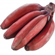 Bunch of dark red bananas over white background — Stock Photo