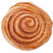 Sweet cinnamon roll bun Isolated on white background — Stock Photo #21190897