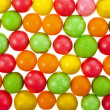 Colored background of assorted candies balls — Stock Photo