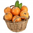 Stock Photo: Loquat Medlar fruit in basket isolated on white background