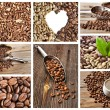 Coffee collage collection on white background - Stock Photo