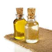 Bottle oil isolated on white background — Stock Photo