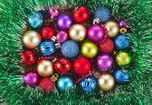 Jul bakgrund med färgglada bollar — Stockfoto