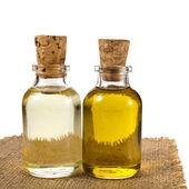 Bottle oil isolated on white background — Stock Photo