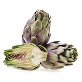 Fresh artichoke on a white background — Stock Photo