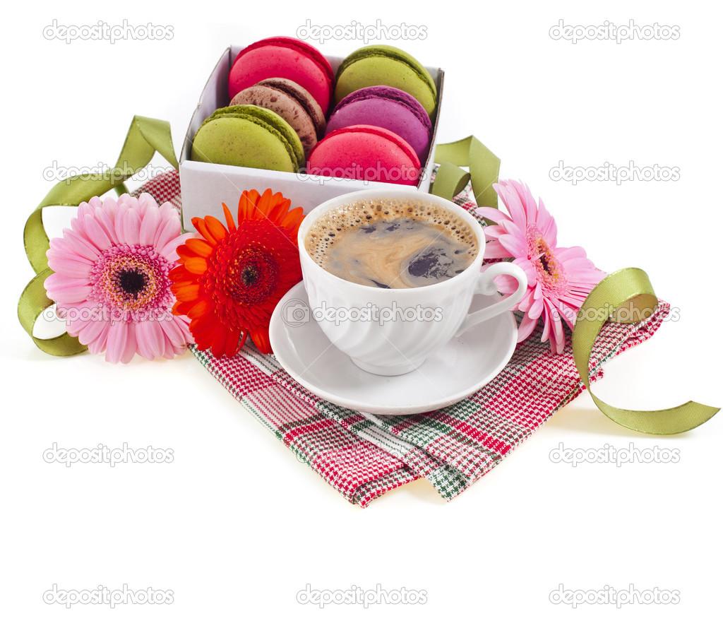 Serviette Dans Tasse A Cafe