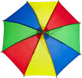 Colored striped umbrella — Stock Photo
