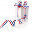 Gift Box Wrapped Ribbon Tape - Lizenzfreies Foto