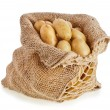 Stock Photo: Ratte potatoes in sack bag