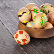 Painted colorful easter eggs — Stockfoto