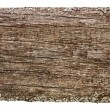 Royalty-Free Stock Photo: Old wood board plank texture surface isolated on white background