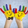 Hands Painted Children - Stock Photo