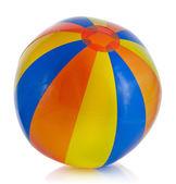 Single Colorful Inflatable PVC ball — Stock Photo