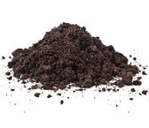 Pile heap of soil humus — Stock Photo