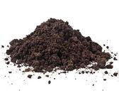 土壤腐殖质的桩堆 — 图库照片