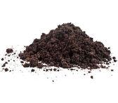 Mucchio di mucchio di humus del terreno — Foto Stock
