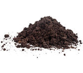 Pila pila de humus del suelo — Foto de Stock