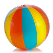 Single Colorful Inflatable PVC ball — Stock Photo