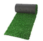 Artificial rolled grass — Stock Photo