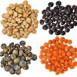 Stock Photo: Collection heap of lentils