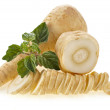 Fresh parsnip roots heap — Stock Photo